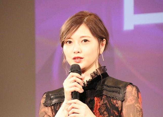 白石麻衣さん。古田さんの一言が女優業への後押しに