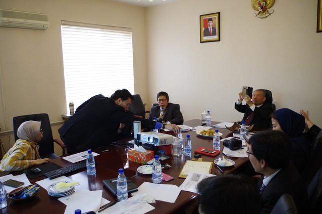 平壌のインドネシア大使館では写真講座も開かれたという(写真はインドネシア大使館のツイッターから)