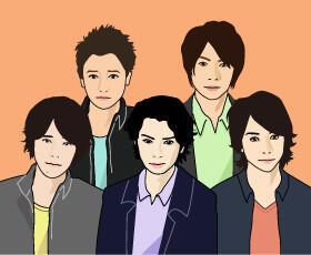 アイドルグループの嵐