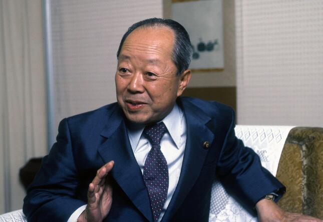 宮澤喜一元首相(1983年撮影)。歴代首相の中でもハト派の代表格として知られている(写真:Fujifotos/アフロ)