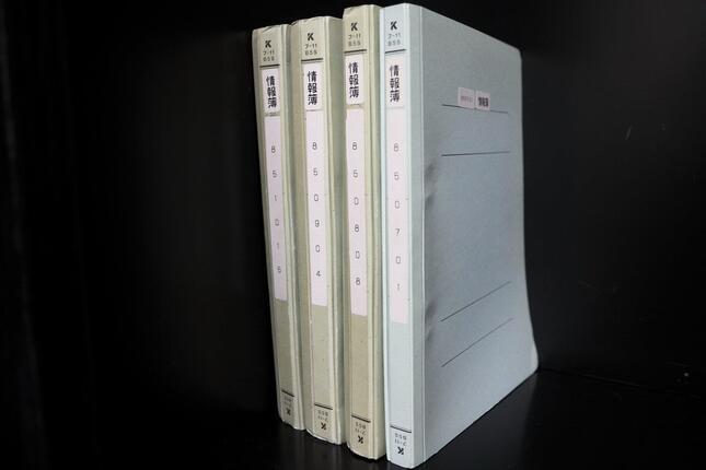 中曾根康弘元首相が国立国会図書館の寄贈した資料の中には「情報簿」と題したファイルもある。その中には、政治家の発言を記した大量の取材メモがとじ込まれている
