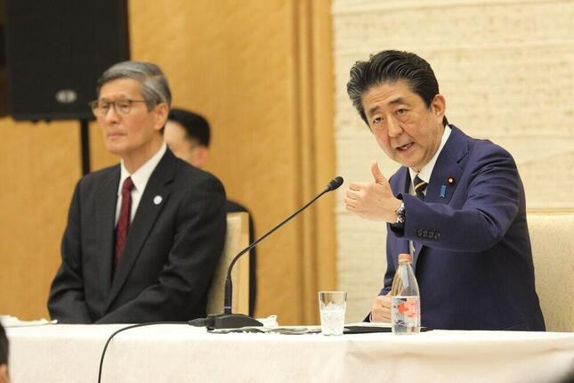 尾身茂氏と安倍晋三首相