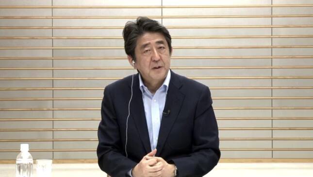 安倍晋三首相は「給付型奨学金」について強調した(「安倍首相に質問!みんなが聞きたい新型コロナ対応に答える生放送」/主催:niconico・Yahoo! JAPAN)