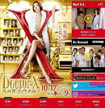 「ドクターX」のサイトから