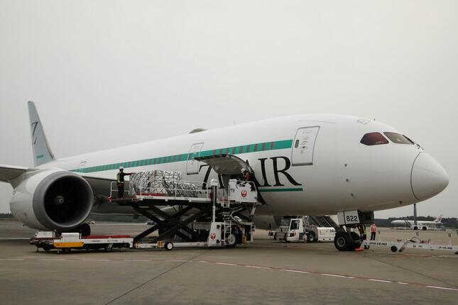 日本航空(JAL)が出資している中長距離格安航空会社(LCC)の「ZIPAIR(ジップエア)」の初便は、貨物専用便として初便が就航した