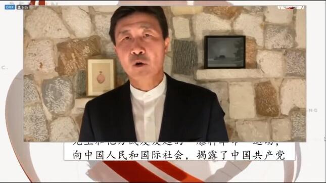 サッカーの元中国代表のカク海東氏。ユーチューブに公開した動画で中国共産党打倒を訴え、波紋を広げた