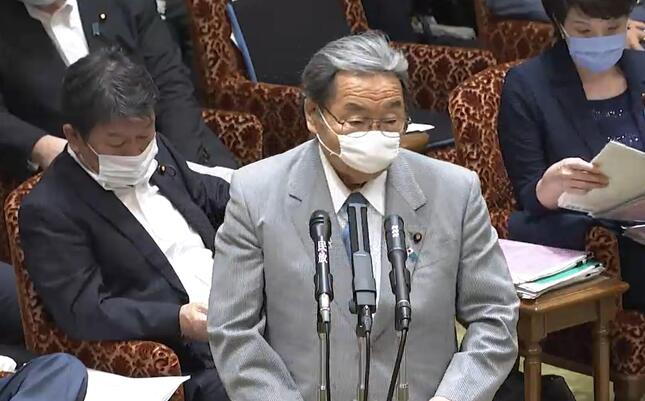北村誠吾大臣がまた迷答弁(参院インターネット審議中継サイトの動画から)
