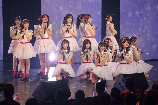 2020年1月に東京都内で行われたNGT48のコンサートには、合宿で選抜された16人が出演した