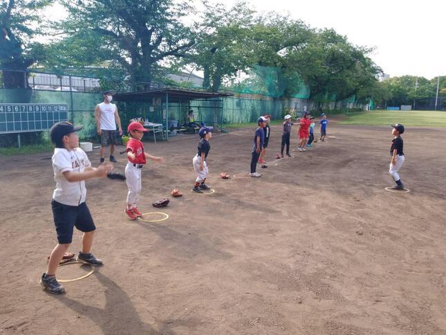 野球教室もようやく「開幕」