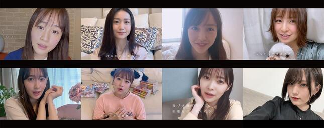 前田敦子さん(左上)がMVに登場 (C)AKB48/ キングレコード