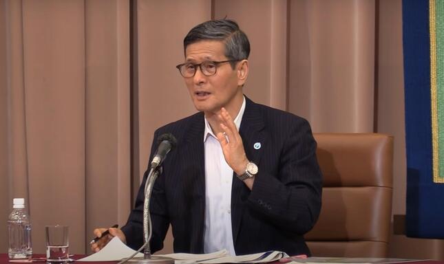 分科会の質問について答える尾身茂副座長(日本記者クラブサイトの動画から)