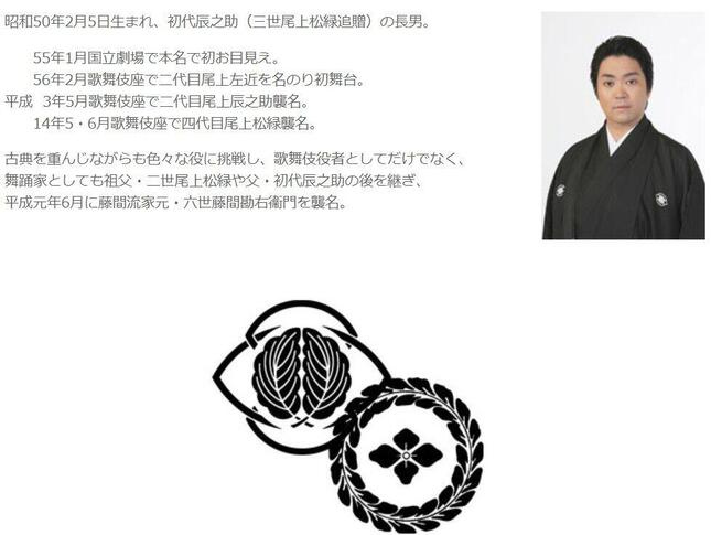 尾上松緑さん(公式サイトより)