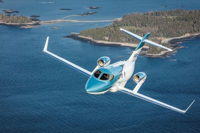 乗客が5人まで利用可能なホンダ・エアクラフト・カンパニー製の「ホンダ・ジェット」(ANAビジネスジェット提供)