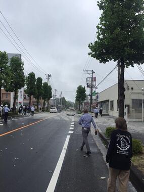 郡山市で起きた爆発事故の現場(撮影:「癒し処YELL」大原孝夫さん、提供:H10さん)