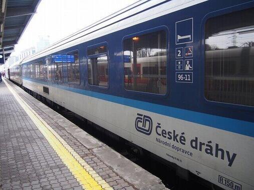 連結されなくなったプラハ発ワルシャワ行き夜行列車の「クシェット」