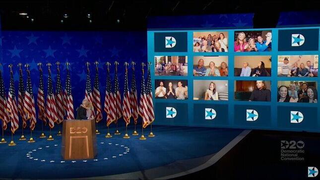 オンラインでの開催となった民主党全国大会(公式YouTubeチャンネルより)