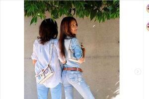 工藤静香、78歳母親も「お若い」! Koki,モデルのバッグ手におそろいツーショット