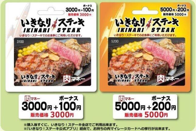 いきなりステーキ「肉マネー」がサービス終了へ(画像はペッパーフードサービス公式サイトより)