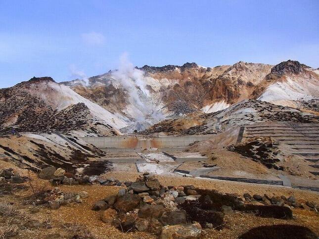 函館市の活火山「恵山」