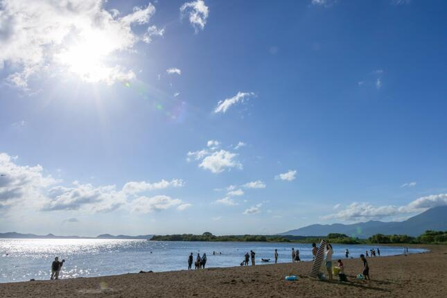 沖で事故が起きた猪苗代湖
