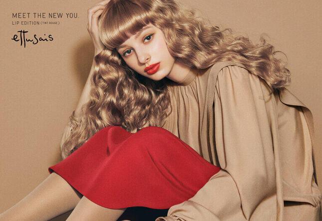 SNSで支持された「エテュセ」の化粧品広告