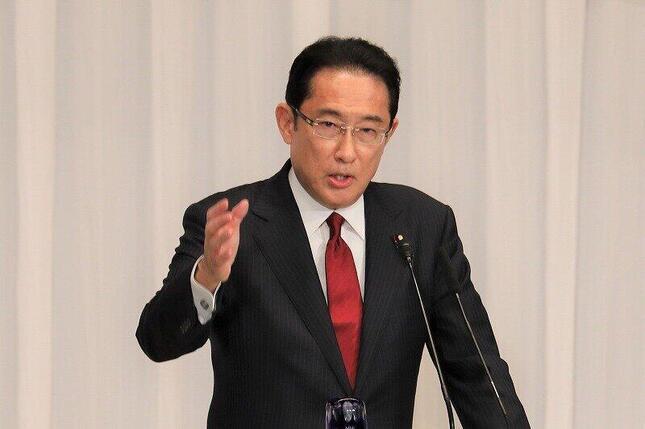 自民党総裁選で「2位争い」を制した岸田文雄政調会長。地方票の得票率は約7%と惨敗だった(2020年9月8日撮影)