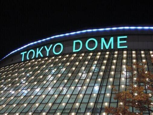 東京ドーム登場に沸く