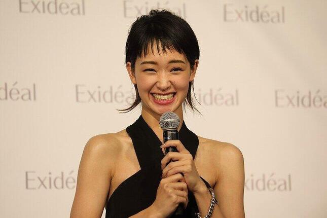 美顔器ブランド「Exideal」(エクスイディアル)の新製品発売イベントに出席した剛力彩芽さん