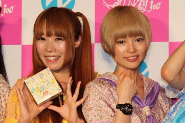 成瀬さんと、でんぱ組.inc時代の最上さん(2014年5月撮影)
