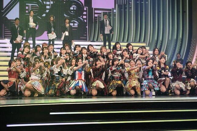 2019年NHK紅白歌合戦AKB48が登場したのは、13年発売の「愛するフォーチュンクッキー」であった(写真はリハーサルの様子)