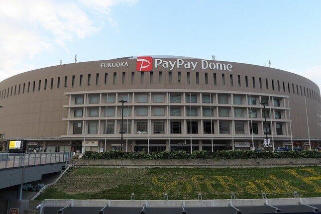 福岡ソフトバンクホークスの4連覇から一夜明けた福岡ペイペイドーム。4連勝で優勝が決まった