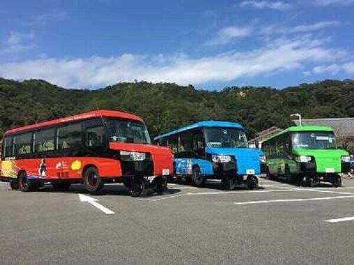 すでにDMV車両3両がお披露目されている(写真は「阿佐東線DMV導入協議会」の資料から)