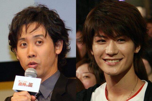 大泉洋さん(2009年撮影)、三浦春馬さん(2008年撮影)