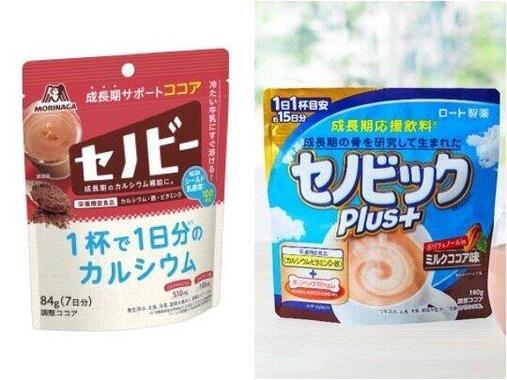 ミロの販売休止で「競合商品」に注目集まる(画像はそれぞれ森永製菓、ロート製薬の公式サイトより)