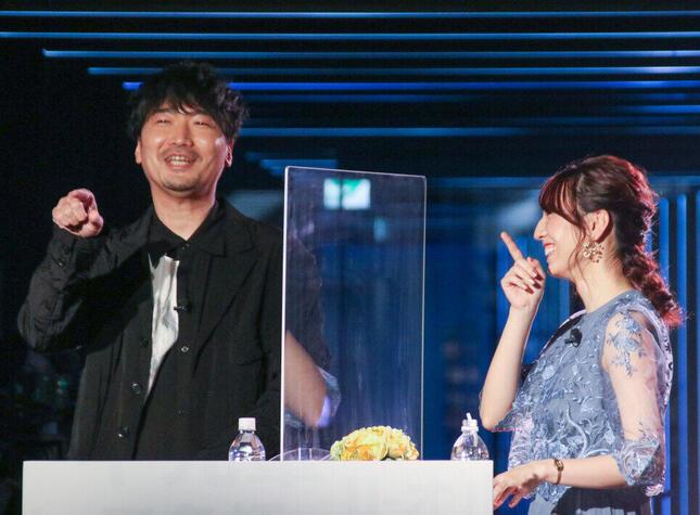 小西さんと森アナは初対面だが、終始和やかで楽しそうに司会進行を行った