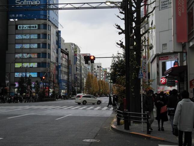 12月中旬の秋葉原の昼下がり。