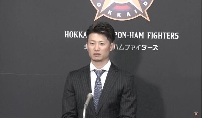 西川遥輝選手(北海道日本ハムファイターズの公式YouTube動画より)