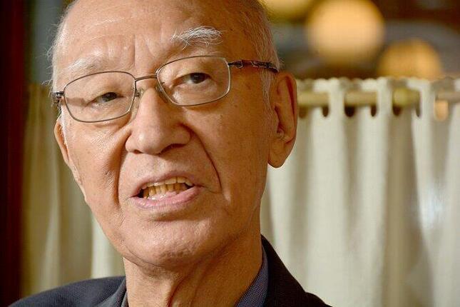 2021年1月に死去した半藤一利さん。「日本社会が四文字七音の世界に没入したなら、時代は危険だということだよ」などと訴えていた(写真:明田和也/アフロ)