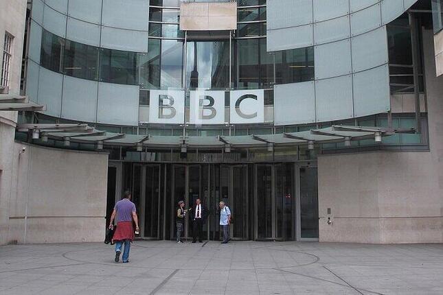 ロンドンの英BBC本社。中国政府の対応が波紋を広げている
