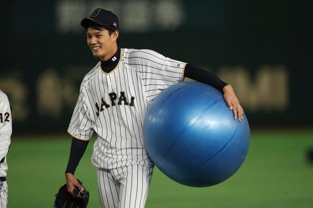 藤浪晋太郎投手(2017年、アフロスポーツ)
