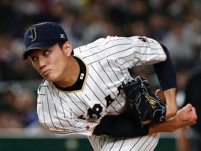 藤浪晋太郎投手(2017年、写真:AP/アフロ)