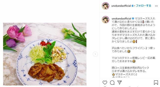 神田うのさんがインスタ(@unokandaofficial)で披露した新レシピとは?