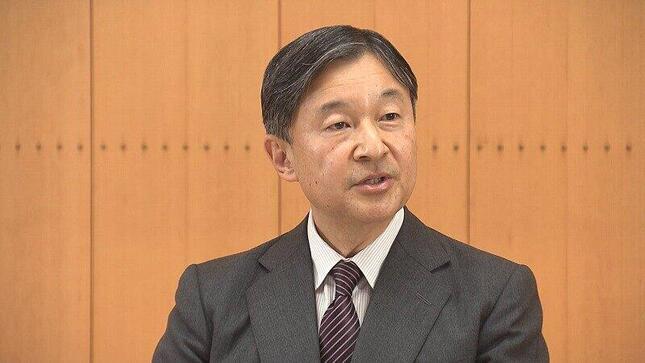 記者会見で質問に答える天皇陛下(写真は宮内庁提供動画から)