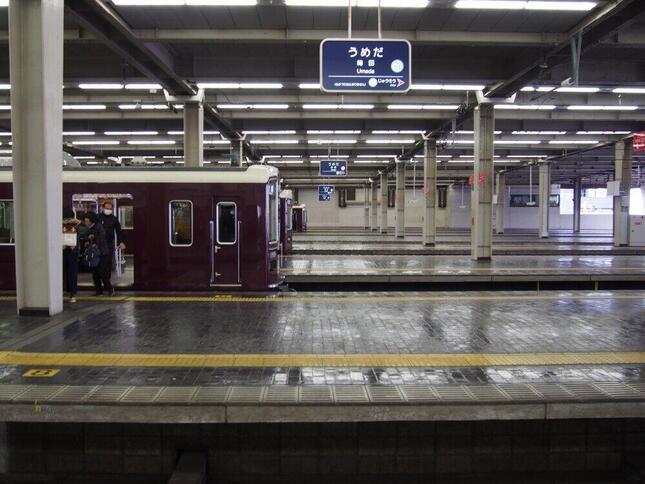 19号線ホームまである大阪梅田駅