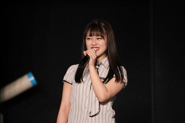 SKE48からの卒業を発表する竹内彩姫(さき)さん。6月1日付けでグループ運営会社の「ゼスト」に入社する (c)2021 Zest,Inc.