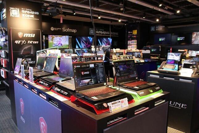 ソフマップAKIBA2号店パソコン総合館の「ゲーミングゾーン」
