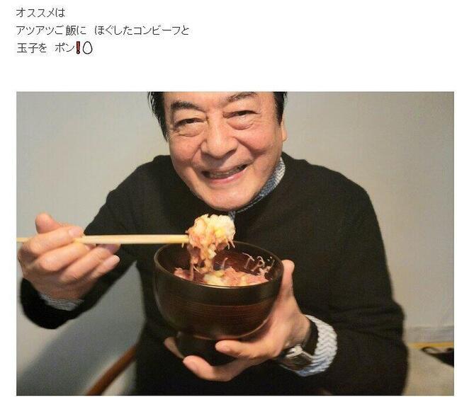 高橋英樹さんがブログ(Ameba)で「このまま食べるもよし!」とノリノリ。