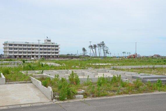 2012年6月ごろの前之濱さんの自宅跡