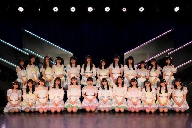 HKT48の新曲の選抜メンバー。今回は24人が選ばれた(c)Mercury