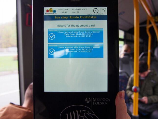 クレジットカード・タッチ決済が使えるポーランド・ビドゴシチ市内のバス